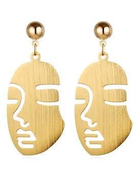 Vintage Human Face Alloy Punk Earrings by Gamiss