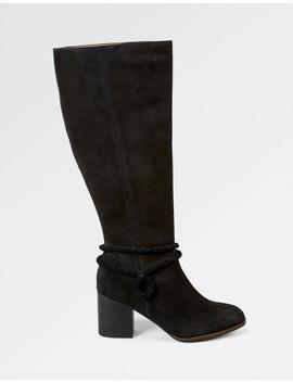 Wells Suede Knee High Boots by Fat Face