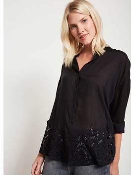 Black Floral Cutout Shirt by Mint Velvet