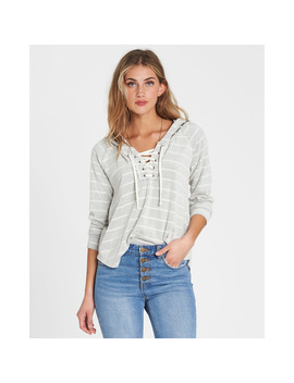 All Along Lace Up Hoodie by Billabong