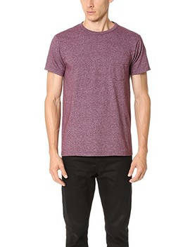 Mock Twist Short Sleeve Pocket Tee by Velva Sheen
