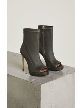 Bali Leather Stiletto Bootie by Bcbgmaxazria
