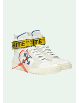 White Hi Top Sneakers by Off White