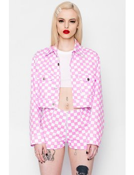 Checkered Luv Crop Jacket by Goodbye Bread