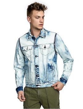 Mens Acid Wash 2 In 1 Danny Denim Jacket by True Religion