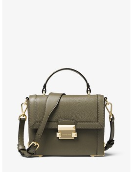 Jayne Small Pebbled Leather Trunk Bag by Michael Michael Kors