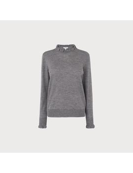 Jaza Grey Merino Wool Jumper by L.K.Bennett