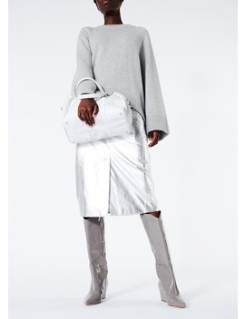 Tech Leather Trouser Skirt by Tibi