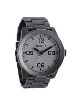 The Corporal Ss Watch In Matte Black And Matte Gunmetal by Nixon