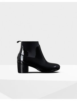"<Span Itemprop=""Name"">Women's Refined Gloss Mid Heel Boots</Span>:                     <Span>Black</Span> by Hunter"