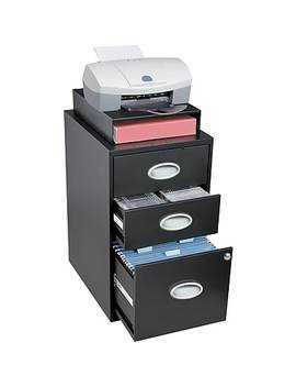 Situations 3 Drawer File And Storage Cabinet, Black by Staples