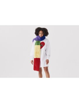 Lazy Oaf Furry Rainbow Scarf by Lazy Oaf