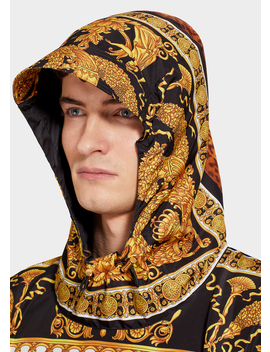 Signature Wild Print Hood Jacket by Versace