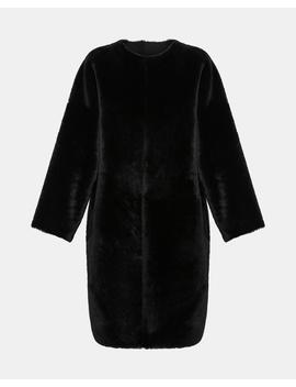 Reversible Shearling Rounded Coat by Theory