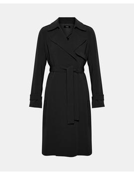 Crepe Trench Coat by Theory