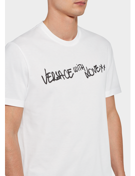 Versace With Love T Shirt by Versace