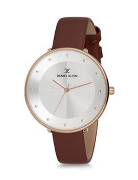 Gold Tone & Brown Leather Watch by Daniel Klein                                      Sold Out