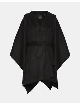 Wool Cashmere Hooded Poncho by Theory