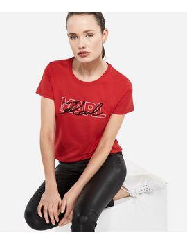 Double Logo T Shirt by Karl Legerfeld