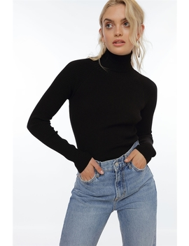 Basic Rib Turtleneck by Chiquelle