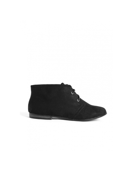 Envy Faux Suede Chukka Boots In Black by Wet Seal