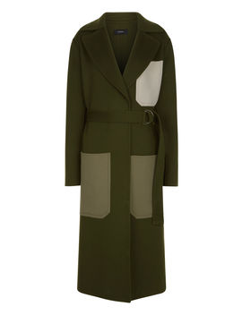 Marcus Luxe Double Wool Coat by Joseph