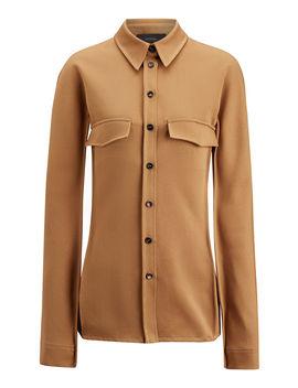 Ozzy Wool Gabardine Shirt by Joseph
