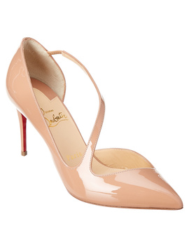 Christian Louboutin Jumping Asymmetric 85 Leather Pump by Christian Louboutin