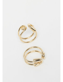 Safety Pin Rings Gold by Cheap Monday