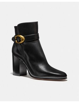 Delaney Signature Buckle Heel Bootie by Coach