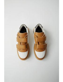 branded-velcro-sneakers-white_ecru by acne-studios