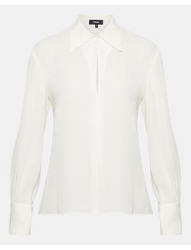 Silk Wide Collar Blouse by Theory