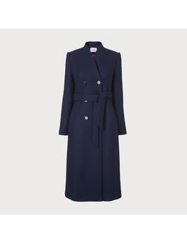 Verlee French Blue Wool Mix Coat by L.K.Bennett