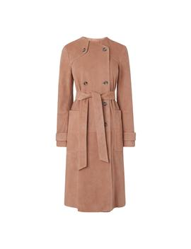Ria Pink Suede Coat by L.K.Bennett
