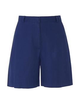 Elpis Blue Linen Shorts by L.K.Bennett