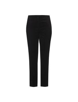 Lilly Black Velvet Cropped Pants by L.K.Bennett