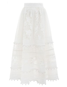 Corsage Embellished Skirt by Zimmermann