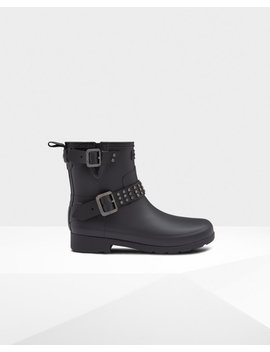 "<Span Itemprop=""Name"">Women's Refined Studded Biker Boots</Span>:                     <Span>Black</Span> by Hunter"