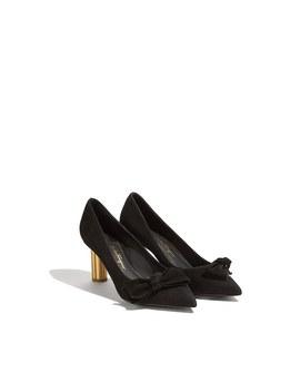 Asymmetrical Bow Pump Shoe by Salvatore Ferragamo