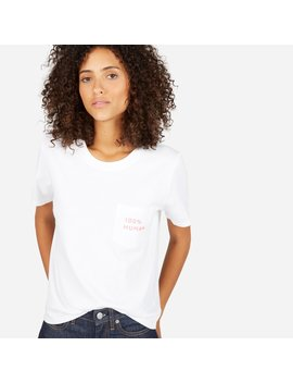 The 100% Human Cotton Box Cut Tee In Small Print by Everlane