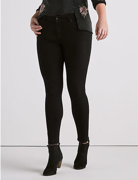 Plus Ginger Skinny Jean In Bell Road Black by Lucky Brand