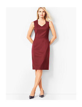 Luxe Italian Flannel Sheath Dress by Talbots