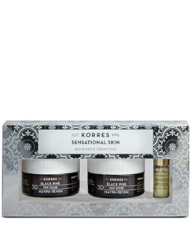 Korres Sensational Skin 3 D Black Pine Day And Night Skin Care Duo (Worth £87.20) by Korres