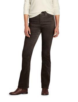 Women's Mid Rise Corduroy Bootcut Pants by Lands' End