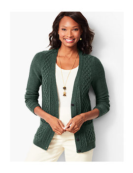 Girlfriend Cable Knit Cardigan by Talbots