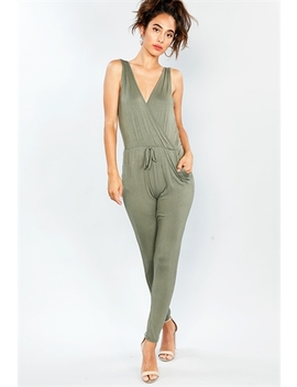 Elevated Front Tie Jumpsuit by Papaya