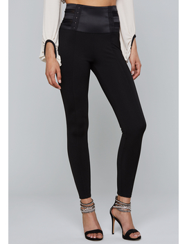 Mesh Waist Leggings by Bebe