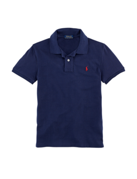 Custom Fit Cotton Polo Shirt by Ralph Lauren
