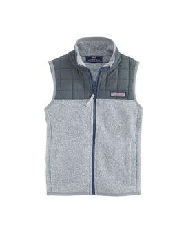 Boys Sweater Fleece Quilted Vest by Vineyard Vines
