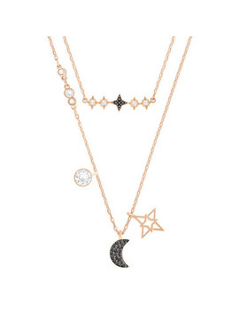 Swarovski Moon Rose Gold Plated Crystal Necklace by Beaverbrooks